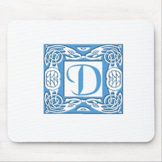D azul tapete de ratones
