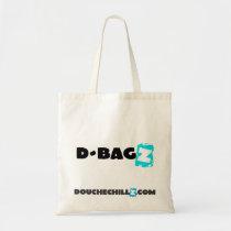 D-Bagz Douchechillz Canvas Tote - Blue Budget Tote Bag