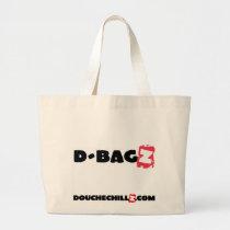 D-Bagz  Jumbo DoucheChillz Red Jumbo Tote Bag