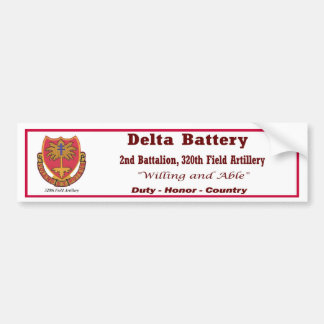 D Battery, 2nd Bn, 320th Field Artillery Bumper S Bumper Sticker