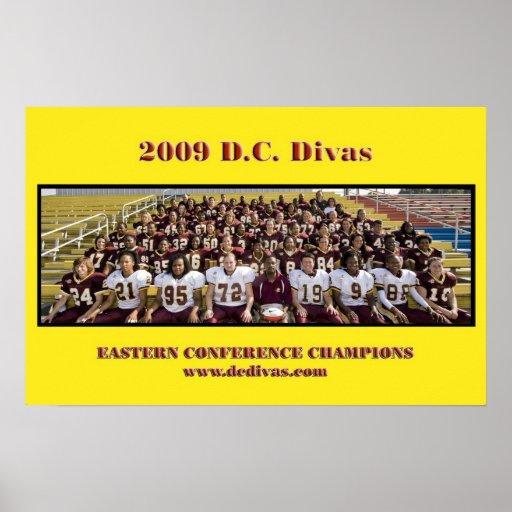 D.C. Imagen del equipo de las divas, 2009 Impresiones