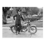 D.C. Motorcycle Police Officer, 1932 Postcard