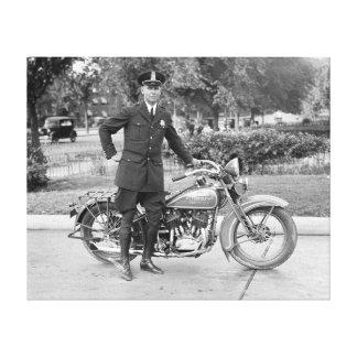 D.C. Oficial de policía de la motocicleta, 1932 Impresiones En Lona