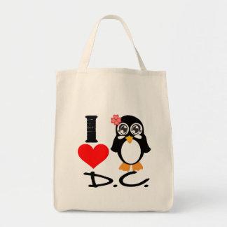 D.C. Penguin - I Love D.C. Canvas Bag