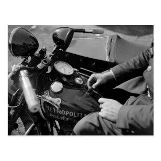 D.C. Poli de motocicleta, los años 30 Postal