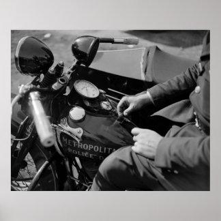 D.C. Poli de motocicleta, los años 30 Póster