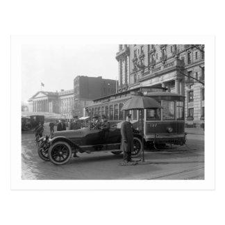 D C Traffic Cop 1913 Postcard