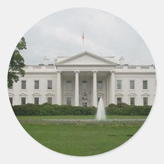 D.C. white house Classic Round Sticker