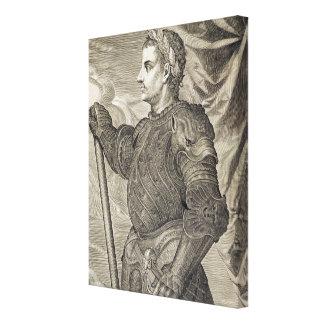 D. Claudius Caesar Emperor of Rome from 41 - 54 AD Canvas Print