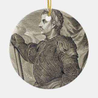 D. Claudius Caesar Emperor of Rome from 41 - 54 AD Ceramic Ornament