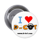 D-CoT Heart 2 Inch Round Button