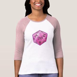 D&D d20 rosado Camisetas