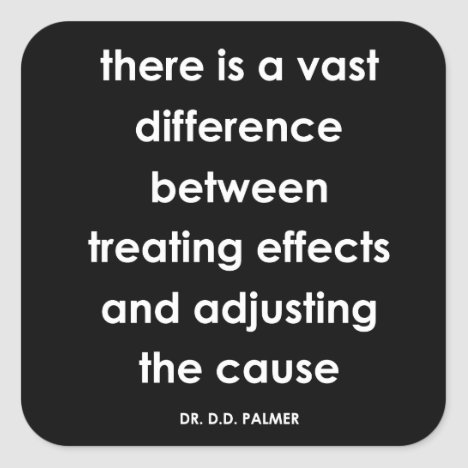 D.D. Palmer Quote Chiropractic Stickers