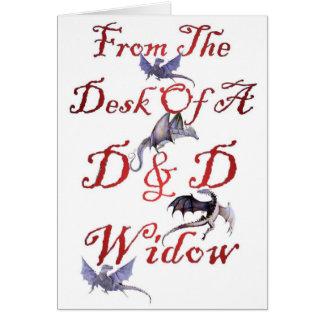 D & D Widow Note Card