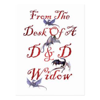 D & D Widow Postcard
