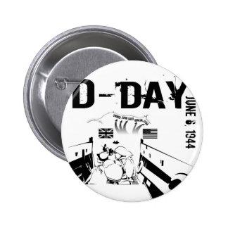 D-DAY 2 INCH ROUND BUTTON