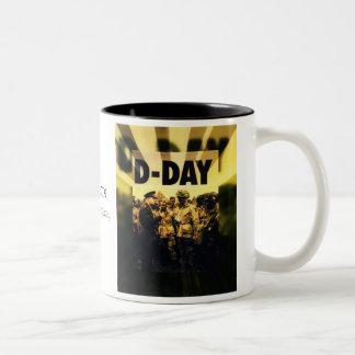 D-Day 65th Anniversary June 6, 2009 Two-Tone Coffee Mug