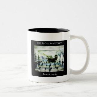 D-Day 65th Anniversary Two-Tone Coffee Mug