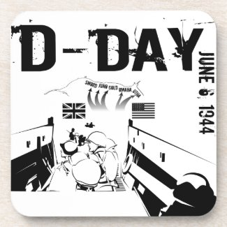 D-DAY 6th June 1944 Beverage Coaster