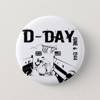 D-DAY 6th June 1944 Button