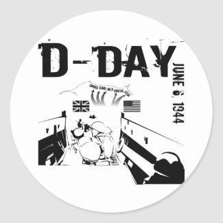 D-DAY 6th June 1944 Classic Round Sticker