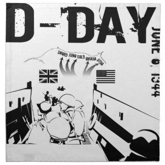 D-DAY 6th June 1944 Cloth Napkin
