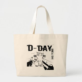 D-DAY 6th June 1944 Large Tote Bag