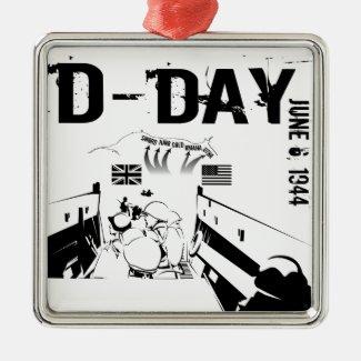 D-DAY 6th June 1944 Metal Ornament