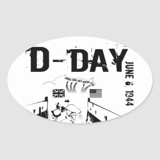 D-DAY 6th June 1944 Oval Sticker
