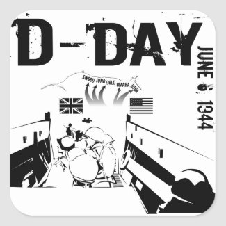 D-DAY 6th June 1944 Rectangular Sticker