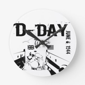 D-DAY 6th June 1944 Round Clock