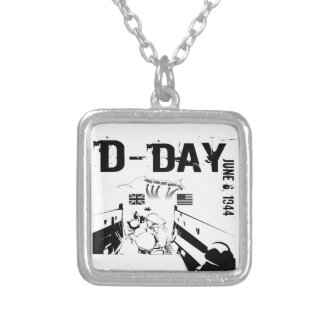 D-DAY 6th June 1944 Silver Plated Necklace