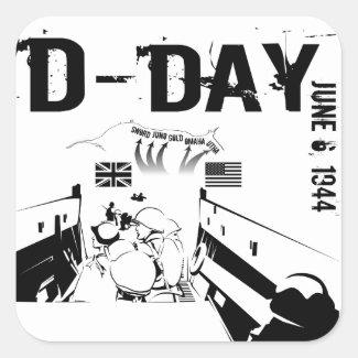 D-DAY 6th June 1944 Square Sticker