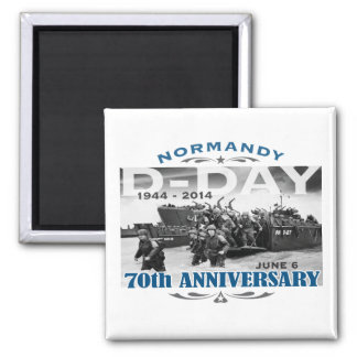 D-Day 70th Anniversary Battle of Normandy 2 Inch Square Magnet