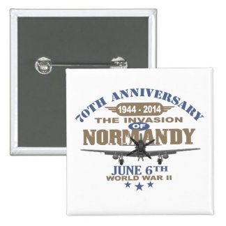 D-Day 70th Anniversary Battle of Normandy Pinback Button