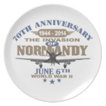 D-Day 70th Anniversary Battle of Normandy Party Plate