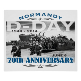 D-Day 70th Anniversary Battle of Normandy Poster