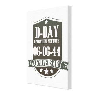 D-Day Anniversary Badge Canvas Print