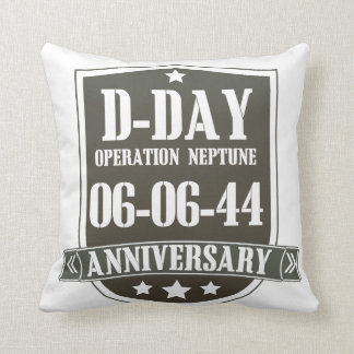 D-Day Anniversary Badge Pillow
