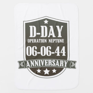 D-Day Anniversary Badge Swaddle Blanket