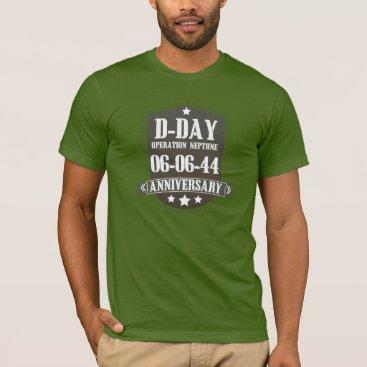 bartonleclaydesign D-Day Anniversary Badge T-Shirt