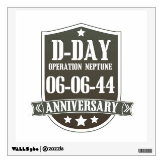 D-Day Anniversary Badge Wall Sticker