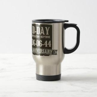 D-Day Anniversary Logo Travel Mug