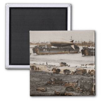 D-Day Assembling Area 2 Inch Square Magnet