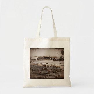 D-Day Assembling Equipment on Beach Tote Bag