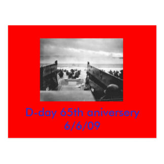 d-day, D-day 65th aniversery 6/6/09 Postcard