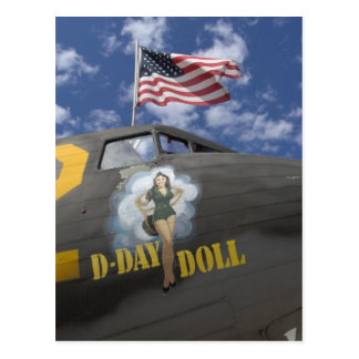 D-Day Doll Postcard