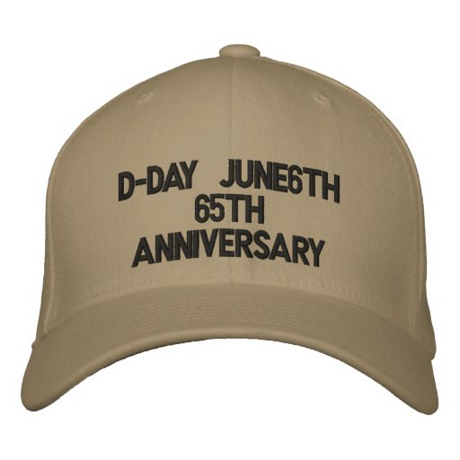 D-Day June6th65th Anniversary Embroidered Baseball Cap