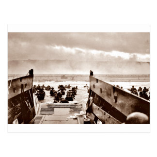 D-Day Landings Assorted Images Postcard