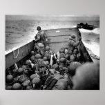 D-DAY Omaha Beach Landing Craft World War II Print